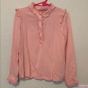 Girls pink blouse